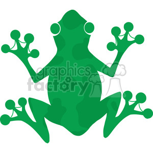 5639 Royalty Free Clip Art Green Frog Silhouette Logo clipart. Royalty-free image # 388904