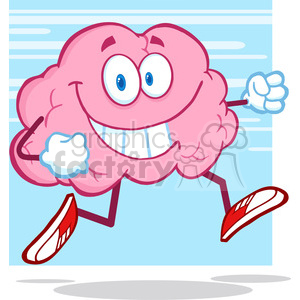 5828 Royalty Free Clip Art Healthy Brain Cartoon Character Jogging clipart. Royalty-free image # 388964