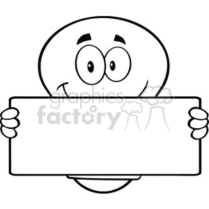 6112 Royalty Free Clip Art Light Bulb Cartoon Mascot Character Holding A Banner clipart. Commercial use image # 389224