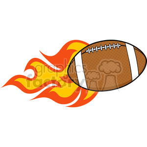 6558 Royalty Free Clip Art Flaming American Football Ball Cartoon Illustration clipart. Royalty-free image # 389509