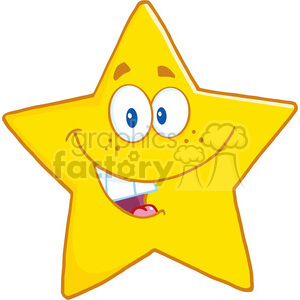 6716 Royalty Free Clip Art Smiling Star Cartoon Mascot Character clipart. Royalty-free image # 389609