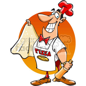 cartoon pizza maker clipart. Royalty-free image # 389809