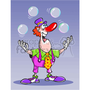 cartoon clown juggling balls clipart. Royalty-free image # 389869