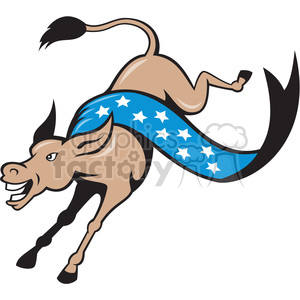 cartoon retro donkey democrat politics political