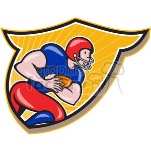 american football rusher rushing side CREST clipart. Royalty-free image # 389899
