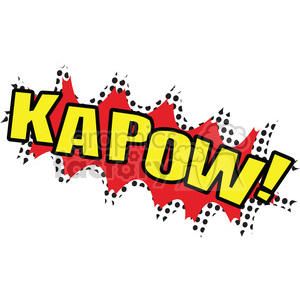 kapow onomatopoeia clip art vector images clipart. Commercial use image # 390050