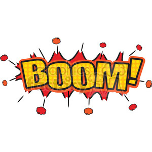 boom burst onomatopoeia clip art vector images clipart. Commercial use image # 390080