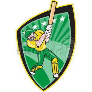 cricket batsman batting front clipart. Royalty-free image # 390382