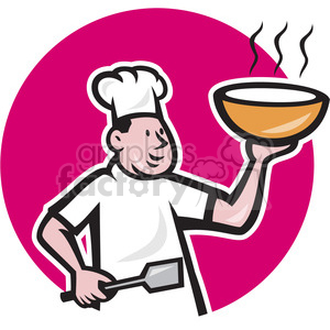 cook spatula hot bowl run CIRC clipart. Royalty-free image # 390392