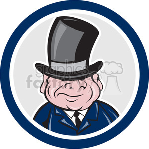 short fat guy with top hat CIRC clipart. Royalty-free image # 390402