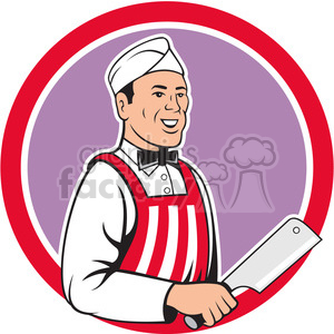butcher holding knife side clipart. Commercial use image # 390422