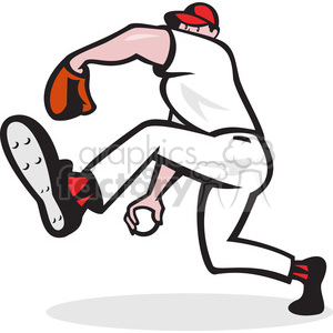 pitcher throw ball side hide clipart. Commercial use image # 390434