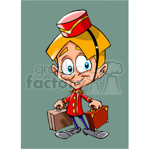 cartoon concierge clipart. Royalty-free image # 390642