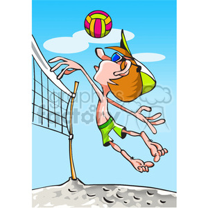 beach volleyball player clipart. Commercial use image # 390714