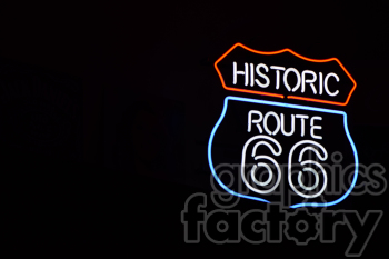 route 66 neon sign right clipart. Royalty-free image # 391023