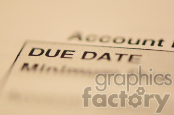 bills due date clipart. Royalty-free image # 391103