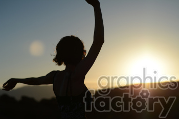 sunset dance celebration photo. Royalty-free photo # 391283