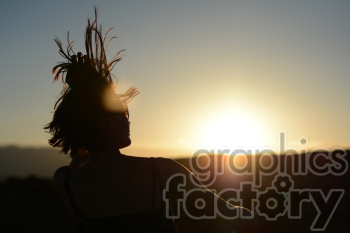 sunset female clipart. Royalty-free image # 391293