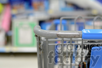 shopping cart in store photo. Royalty-free photo # 391318