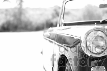 black and white Triumph photo right side photo. Royalty-free photo # 391323