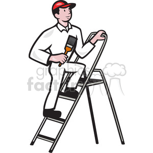 painter on ladder clipart. Royalty-free image # 391378