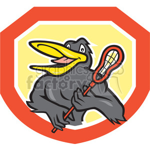 black bird lacrosse stick logo clipart. Commercial use image # 391408