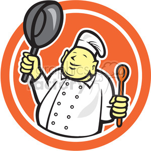 chef buddha sitting logo clipart. Commercial use image # 391438