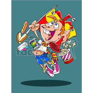 kid at bitrthday party clipart. Royalty-free image # 391491