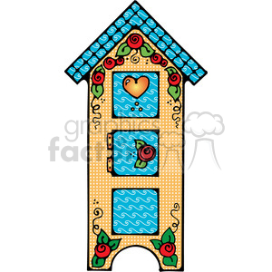 colorful birdhouse cupboard clipart. Royalty-free image # 391642