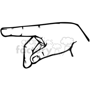 sign language letter P clipart. Royalty-free image # 167504