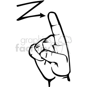 sign language letter  Z clipart. Royalty-free image # 167514