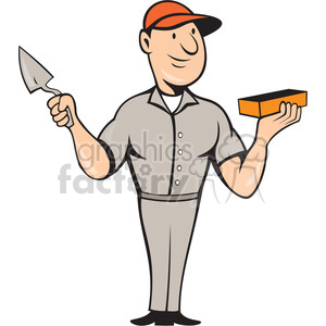 brickman STANDING color shape clipart. Commercial use image # 392356