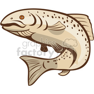 rainbow trout jumping up shape clipart. Royalty-free image # 392366