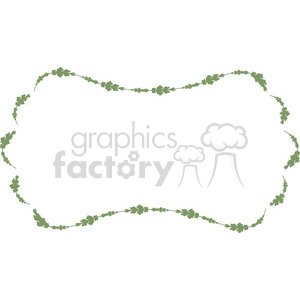 green floral frame swirls boutique design border 10 clipart. Royalty-free image # 392453