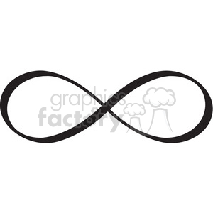 infinity symbol vector design clipart. Commercial use image # 392483