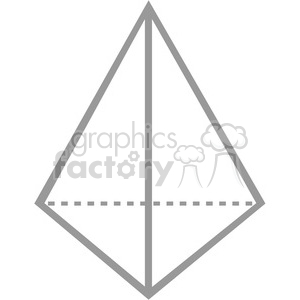 geometry 3 sided pyramid math clip art graphics images
