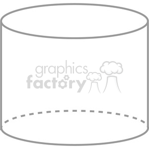 geometry empty cylinder math clip art graphics images clipart. Royalty-free image # 392521