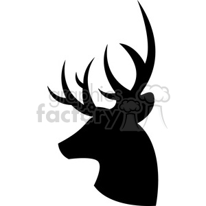 side silhouette buck deer illustration silouhette vector graphic clipart. Commercial use image # 392571