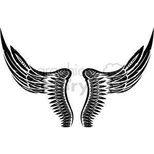 vinyl ready vector wing tattoo design 002