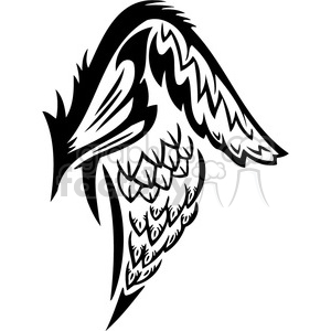 vinyl ready vector wing tattoo design 081 clipart. Royalty-free image # 392704