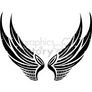 vinyl ready vector wing tattoo design 059 clipart. Royalty-free image # 392714