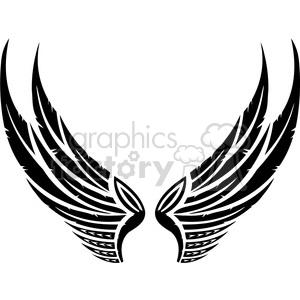 vinyl ready vector wing tattoo design 059