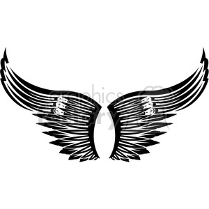 vinyl ready vector wing tattoo design 036 clipart. Royalty-free image # 392724