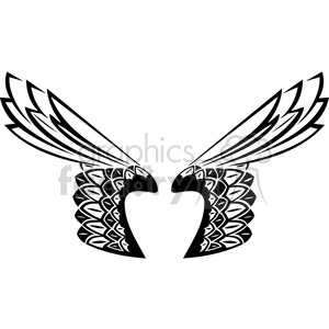 vinyl ready vector wing tattoo design 001 clipart. Commercial use image # 392734