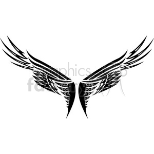 vinyl ready vector wing tattoo design 038 clipart. Royalty-free image # 392744