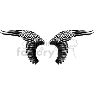 vinyl ready vector wing tattoo design 008