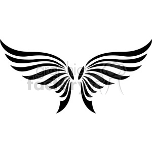 vinyl ready vector wing tattoo design 079