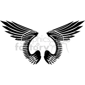 vinyl ready vector wing tattoo design 021 clipart. Royalty-free image # 392774