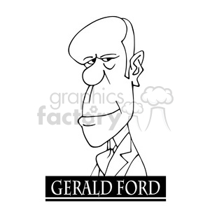 gerald ford black white clipart. Commercial use image # 392914
