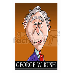 celebrity famous cartoon editorial-only people funny caricature george+w+bush president 43rd
